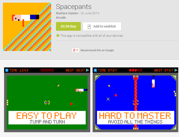 SpacePants on the Google Play Store!